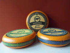 Three advertising cheeses, shop window display material