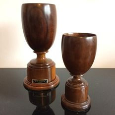 Two mahogany coupes, Jonker Stinkhout, Knysna, South Africa, second half 20th century