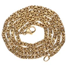 Yellow gold Byzantine necklace of 14 kt – 50 cm