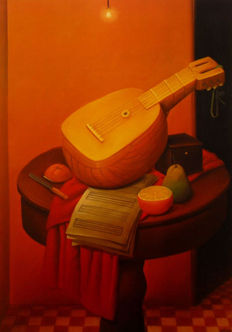 Fernando Botero - Collection of 3 articles: Still life with mandolin - Mother superior - The doll