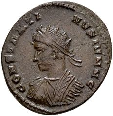 Roman Empire  – AE follis of Constantine II, Caesar (317-337 A.D.), struck in London / Ex Lückger (1864-1951).