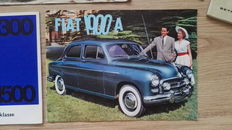 Lot Fiat brochures/documentation 1950s/1960s Fiat 1900A , 1800 1300 1500 1200 1100 600 Multipla