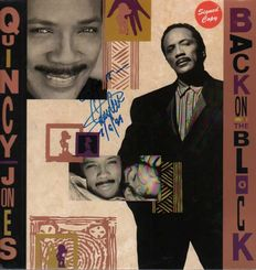 "Quincy Jones: ""Back on The Block"" Hand Signed on Front  Album Cover of This Hip Hop, Jazz, Funk / Soul Style: RnB/Swing, House Album with COA"