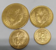 United States Mexico – Year 1945, 55 and 59 – Lot of 4 coins