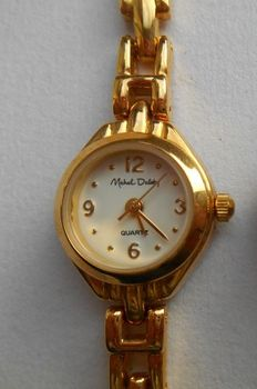 Gold-plated ladies' watch by Michel Delaby - 2nd half 20th century