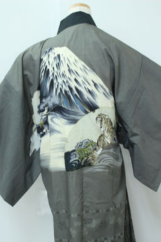 Japanese Kimono Juban 'tiger pattern' - Japan - late 20th century