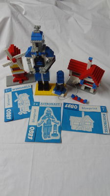 Assorti - Blueprints - No 1 & No 2 & No 4 - Windmill & Boathouse & Astronaut