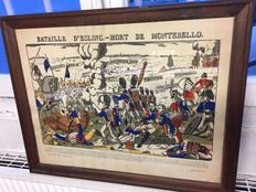 Picture of the battle of Esling by the Imageries Pellerin in Epinal, late nineteenth century