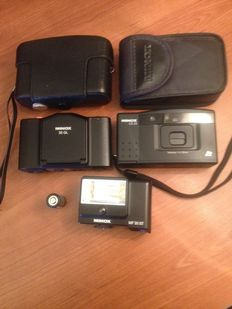Minox 35GL  w.Case and Minox CD25 w.Case Cameras and Flash, TOP