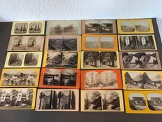 31 Stereograph cards - early 1900s - including Germany, Switzerland & other countries
