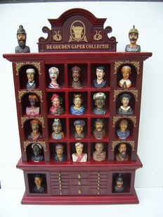 The Golden Gaper (Yawner) collection - Cabinet and 24 Yawners