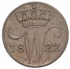 The Netherlands – 5 cents 1822 U Willem I – silver