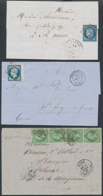 France 1852/1869 - 6 mail items.