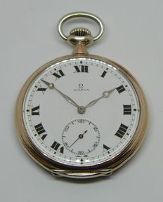 Omega Enamel Men's Pocket Watch  circa 1918