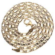 14 kt yellow gold Figaro link necklace - 45 cm
