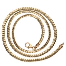 14 kt yellow gold S-link necklace - 52 cm