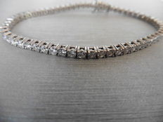 18k Gold Diamond Tennis Bracelet - 3.00ct  J VS2