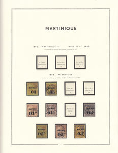 Martinique 1888/1947 - Collection of stamps
