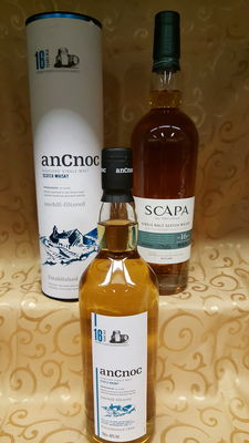 2 bottle s- Scapa 16 y.o and AnCnoc 16 y.o