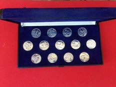 Vintage set of 13 Marriage Coins, with an inscription ' Love enjoys Truth', made in silver 925 thousandths. - 1970