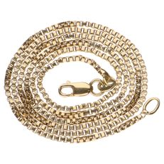 14 kt yellow gold Venetian link necklace - length: 49 cm