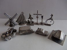 ANWB silver-plated miniatures - 10 pieces - complete collection, Seventies, the Netherlands