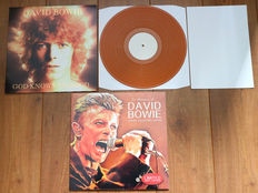 David Bowie- Rare lot of 2x limited edition Bowie: God Knows I'm Good (only 500 copies, on orange wax & w. poster!) & In Memory Of David Bowie (only 1500 copies worldwide!)