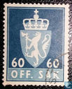 Postage Stamps - Norway - 1969 OFF. I phosphorescent SAK 60