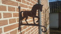 Cast iron horse wall