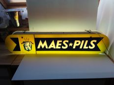 old illuminated advertising sign for Maes Pils. 1965.