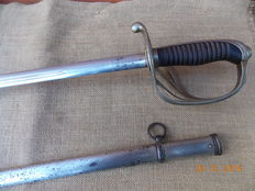 Sabre of French Artillery Officer M. 1882 top condition