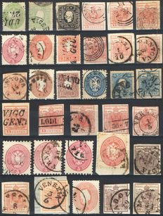 Lombardo-Venetian Kingdom – Lot of used stamps (various issues)