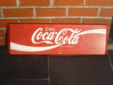 Coca cola - advertising metal plate -1970s