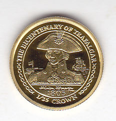 "Isle of Man – 1/25 crown 2005 ""The Bicentenary of Trafalgar"" – Gold"