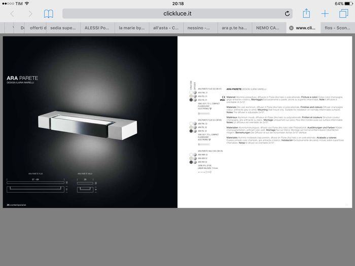 Design: ilaria marelli for nemo u2013 ara halo wall lamp 5x catawiki