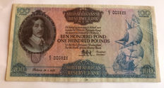 South Africa - 100 pounds 1952 - Pick 101a