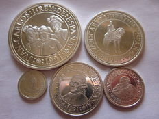 Spain - 5th Centennial of the Discovery of America - Lot of 5 different coins - 1991 Rare.