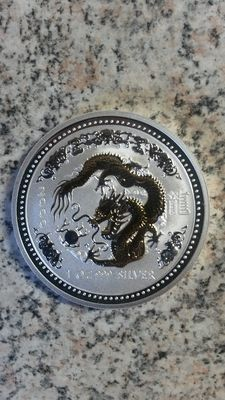 Australia - 1 ounce silver (plated) Luna I, dragon from 2000, as well as pig from 2007 (plated)