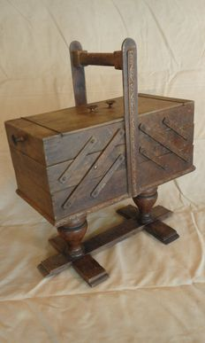 Sewing box, approx. 1950