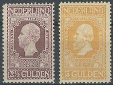 The Netherlands 1913 – Independence – NVPH 99 + 100
