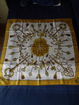 """Check out our Hermes - """"Les Clés"""" silk scarf."""