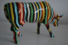 Cary Smith for Cow Parade - Cow Striped-Large and Retired