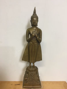 Buddha, bronze - Thailand - second half 20th century.