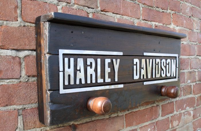 Harley Davidson Vintage Coat Hanger Wood Iron C 40 Catawiki Interesting Harley Davidson Coat Rack
