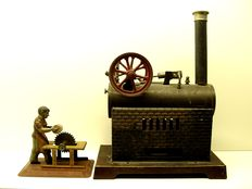 Doll, Germany - 312/3 steam engine and drive model, 20/30s