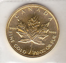 Canada – 5 Dollars 1995 'Maple Leaf' – gold