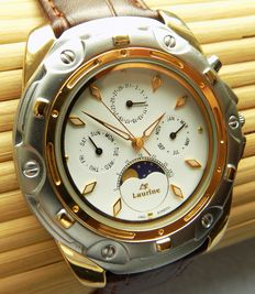 LP Laurine Premiun - B3680GL bicoloured with moon phase -- men's wristwatch, year 2015
