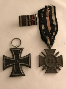 Iron Cross 1914 2nd Class -- Honour Cross for Combatants -- and Clasp