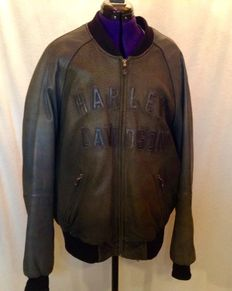 Beautiful thick soft leather Harley Davidson motorbike jacket 100 Years XXL