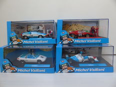 Altaya-Michel Vaillant - Scale 1/43 - Lot with 4 Michel Vaillant models: F1-2003, Rush, Francoise & Leader Marathon